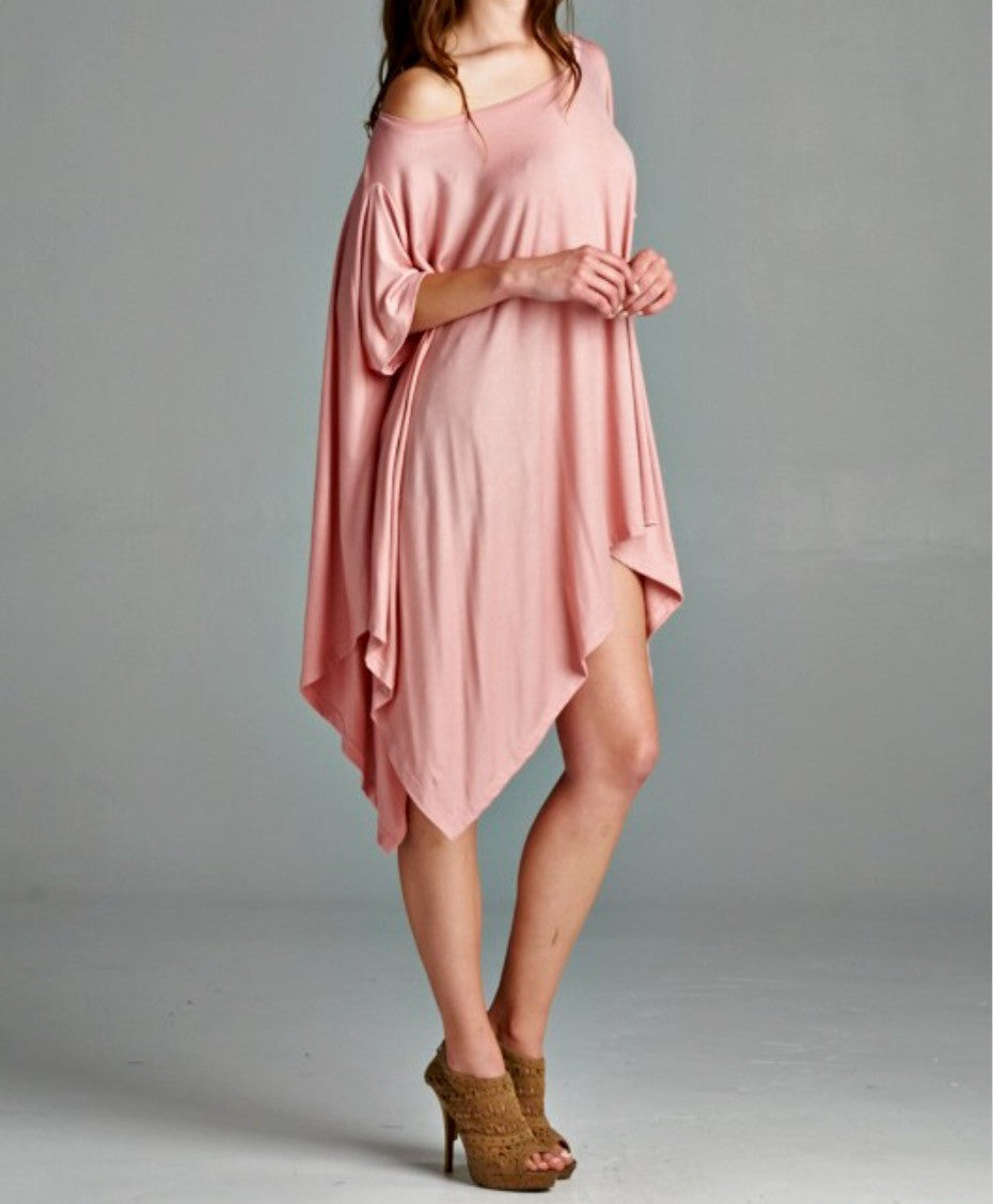 Soft Pink Tunic - BohoLocoBoutique