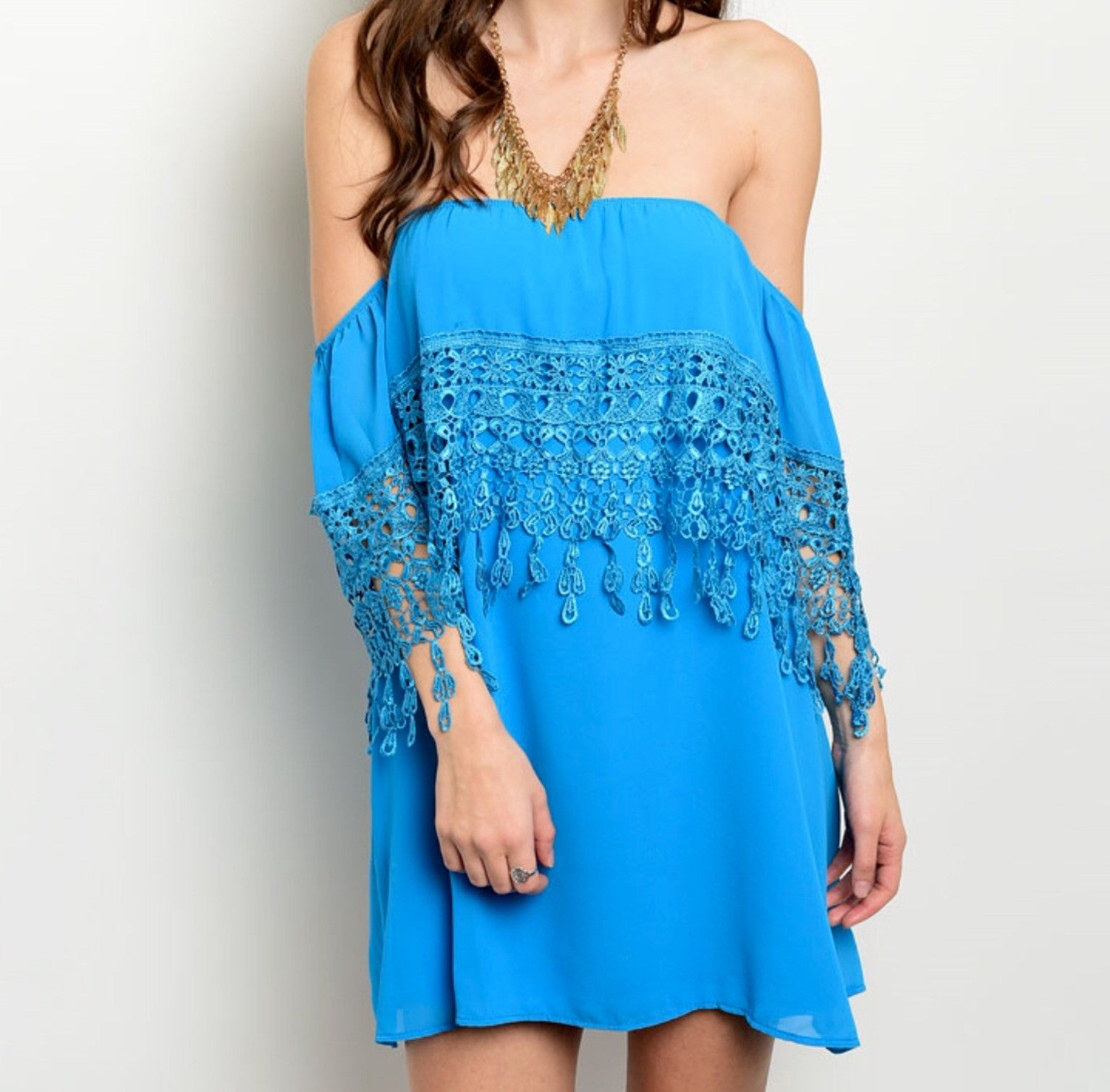 Bohemian Fringe Tunic Dress - BohoLocoBoutique
