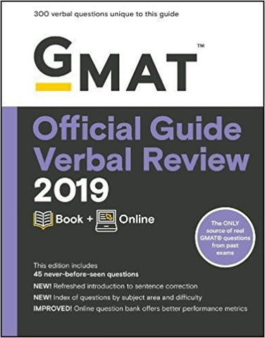 GMAT Official Guide Verbal Review 2019: Book + Online 3rd Edition