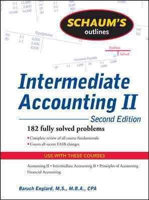 intermediate accounting ii essay Intermediate accounting ii discussion question july 11th, 2017 admin  order details/description • imagine that the management at your company is considering a.