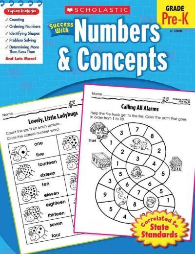 Scholastic Success With Numbers & Concepts: Grade Pre-k