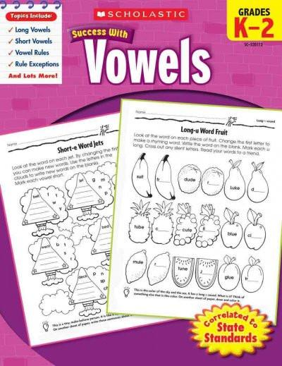Success With Vowels: Grade K-2