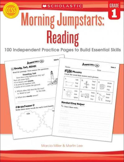 Morning Jumpstarts: Reading Grade 1: 100 Independent Practice Pages to Build Essential Skills
