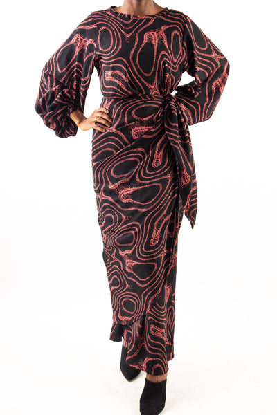 Faux Iro & Buba Dress