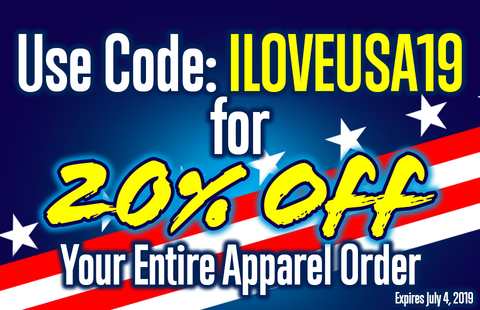 Coupon Code ILOVEUSA19