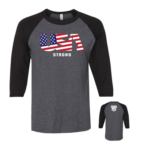 USA Strong 3/4 Sleeve T-Shirt