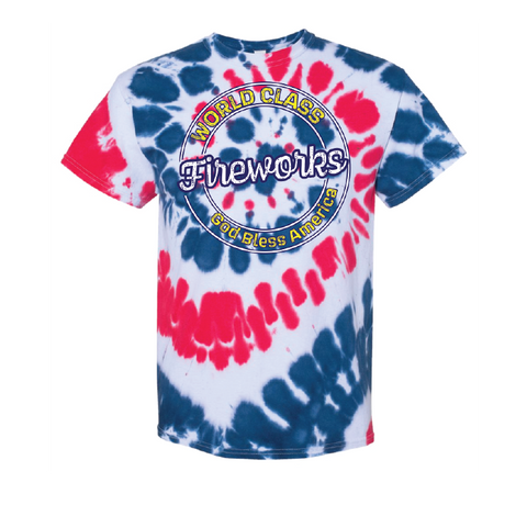 Tie Dyed Fireworks Shirt