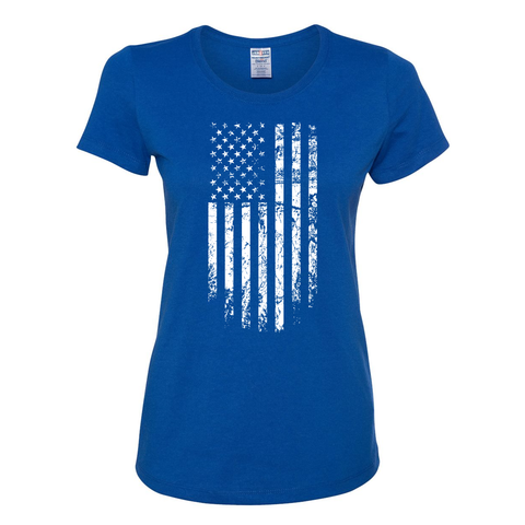 Women's Royal Tattered Flag
