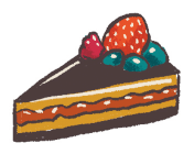 Illustration of a cake in a Standart magazine (voted 2019 Best Coffee Magazine by sprudge.com readers) article about the history of coffee in Paris