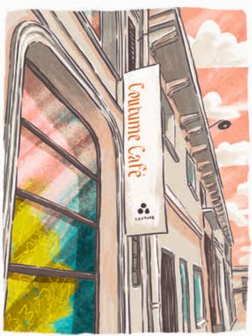 Illustration of Coutume Institut, Paris by Adrian Macho (seasidespirit) for Standart magazine.