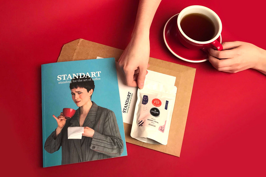 Specialty coffee delivered with every issue of Standart Magazine