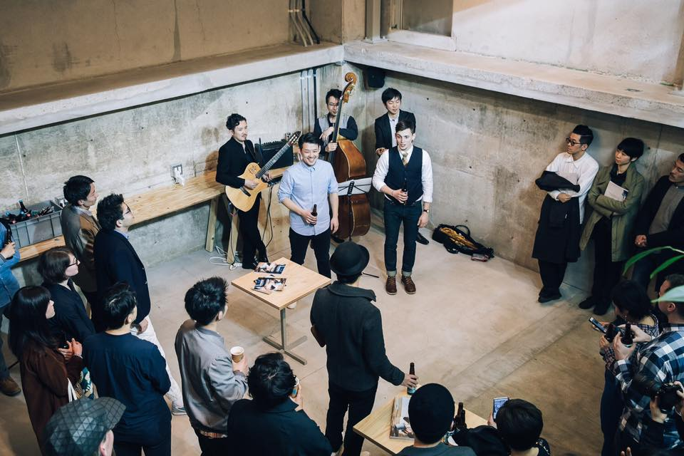 The launch party for the Japanese version of Standart magazine at Blue Bottle Coffee Tokyo