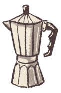Illustration of a Mokka pot in a Standart magazine (voted 2019 Best Coffee Magazine by sprudge.com readers) article about the history of coffee in Paris