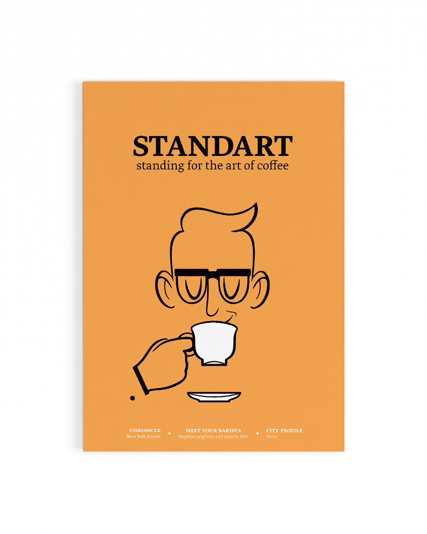 Cover of Standart magazine issue 15. Voted best coffee magazine by sprudge.com readers in the sprudgie awards.