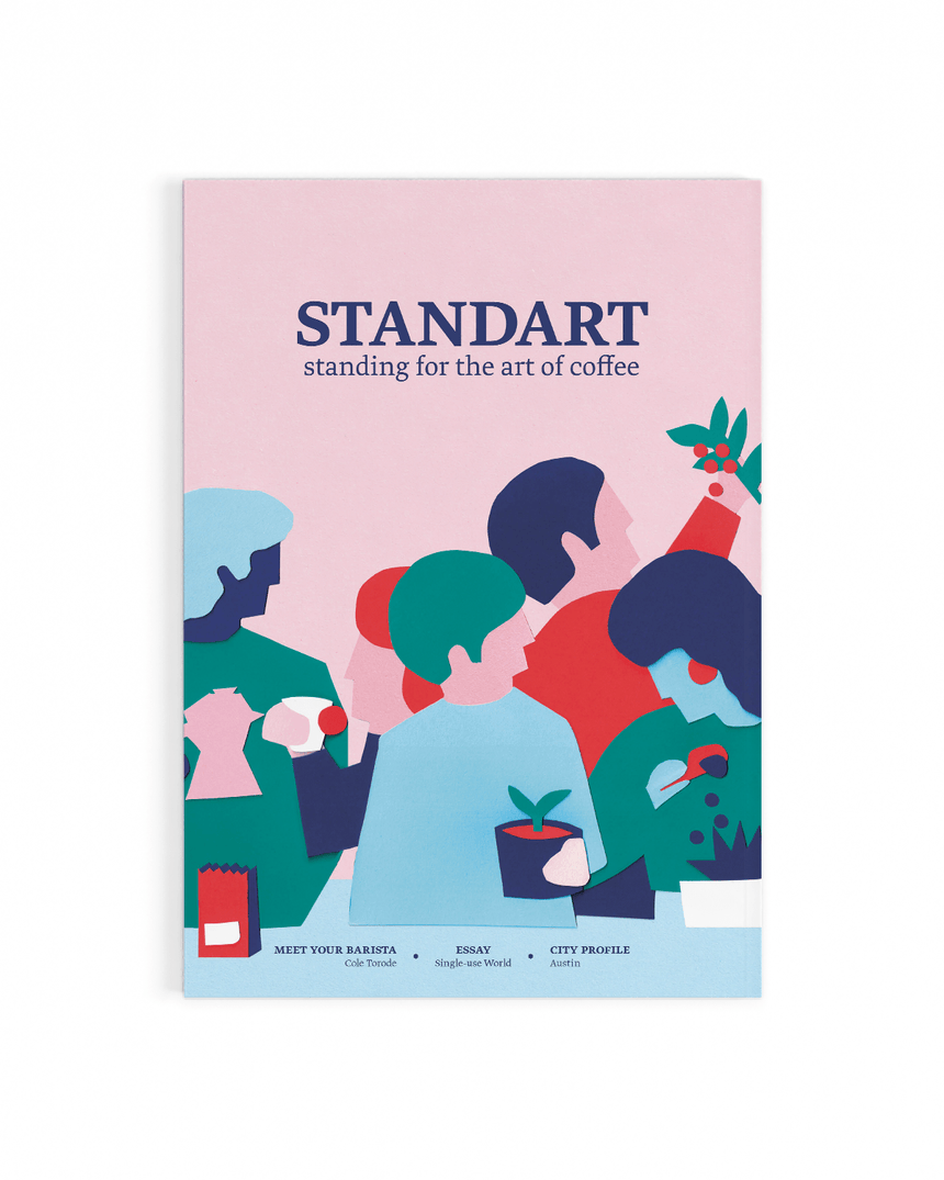 Cover of Standart magazine issue 16. Voted best coffee magazine by sprudge.com readers in the sprudgie awards.