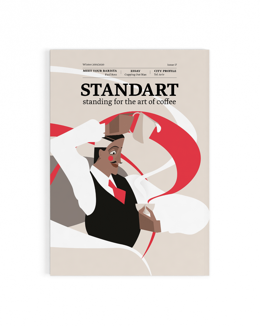 Cover of Standart magazine issue 17. Voted best coffee magazine by sprudge.com readers