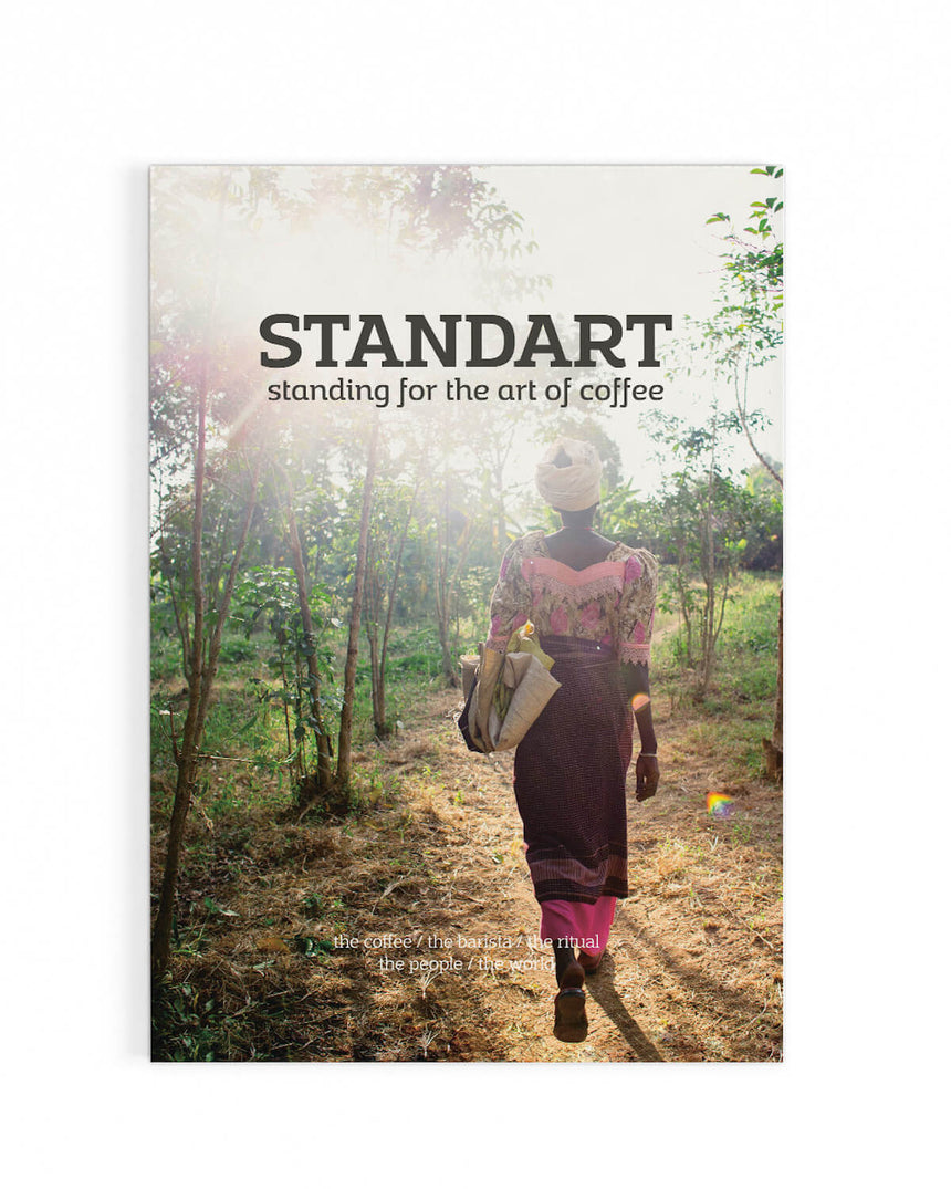 Cover of Standart magazine issue 2: Voted best coffee magazine by sprudge.com readers in the sprudgie awards.