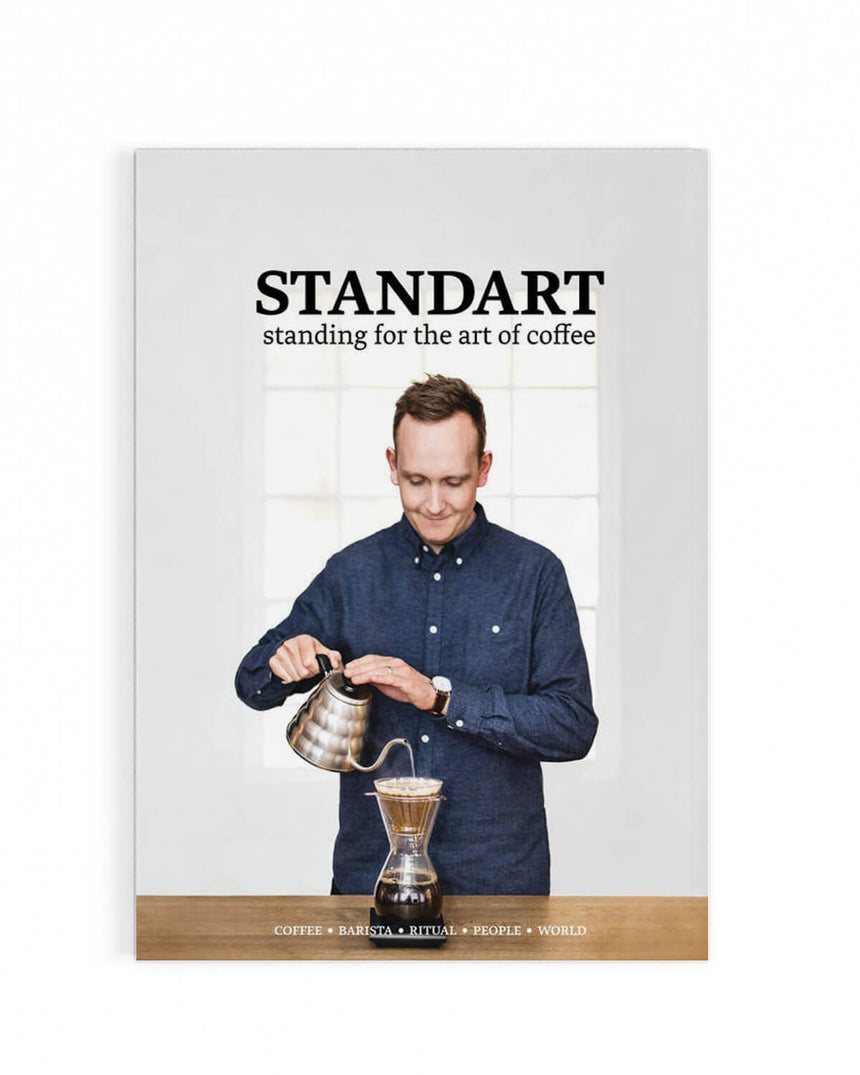 World Barista Champion, Klaus Thomsen of The Coffee Collective Copenhagen onthe cover of Standart magazine