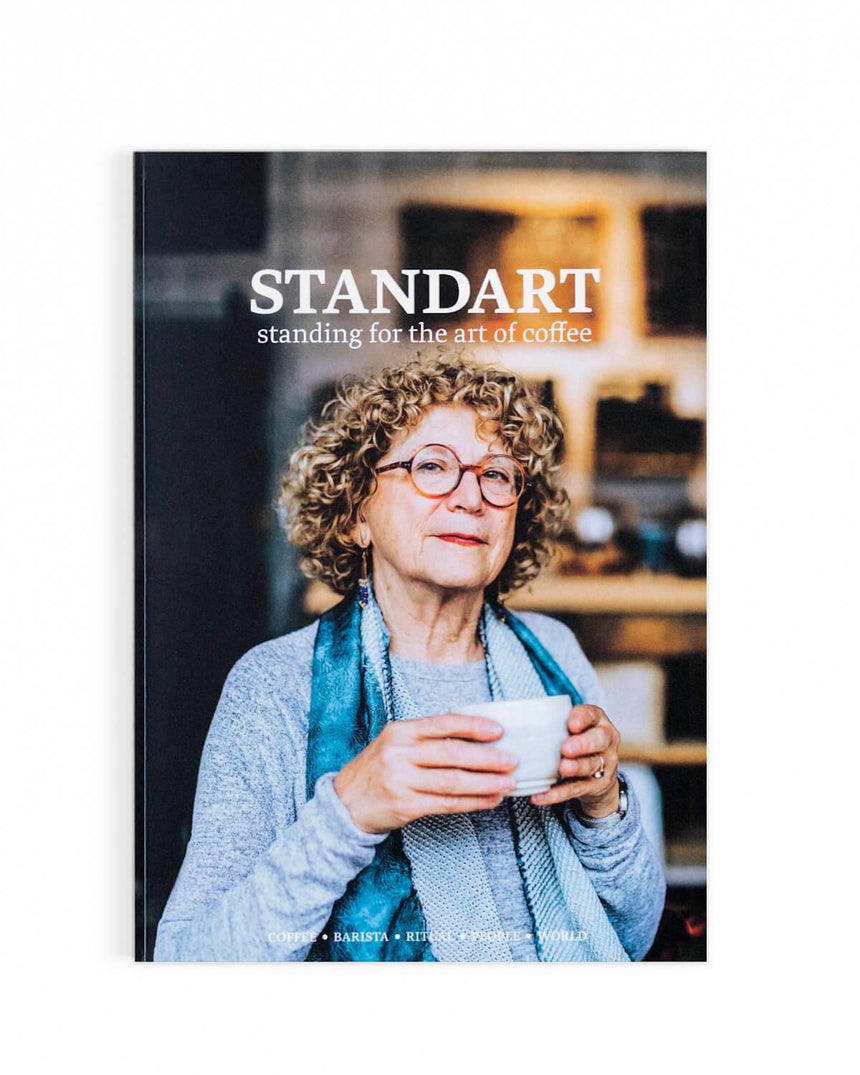 Merry White, author of Coffee Life in Japan, on the cover of standart magazine