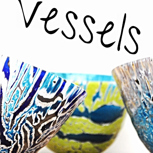 Handmade glass vessels