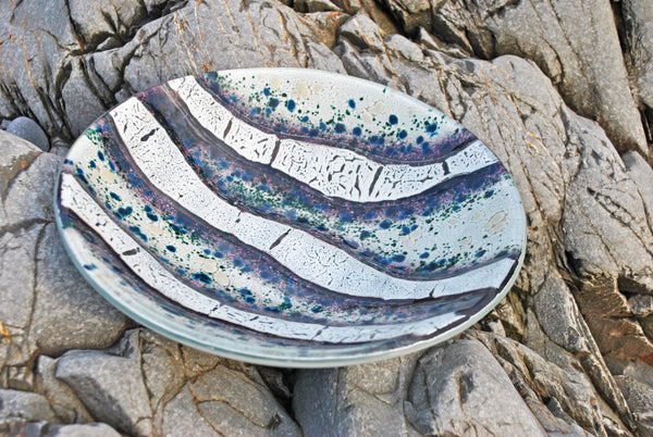 Titan - Large round kiln formed glass bowl