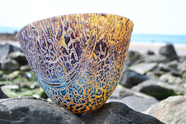 Phoenix - Kiln formed fused art glass vessel