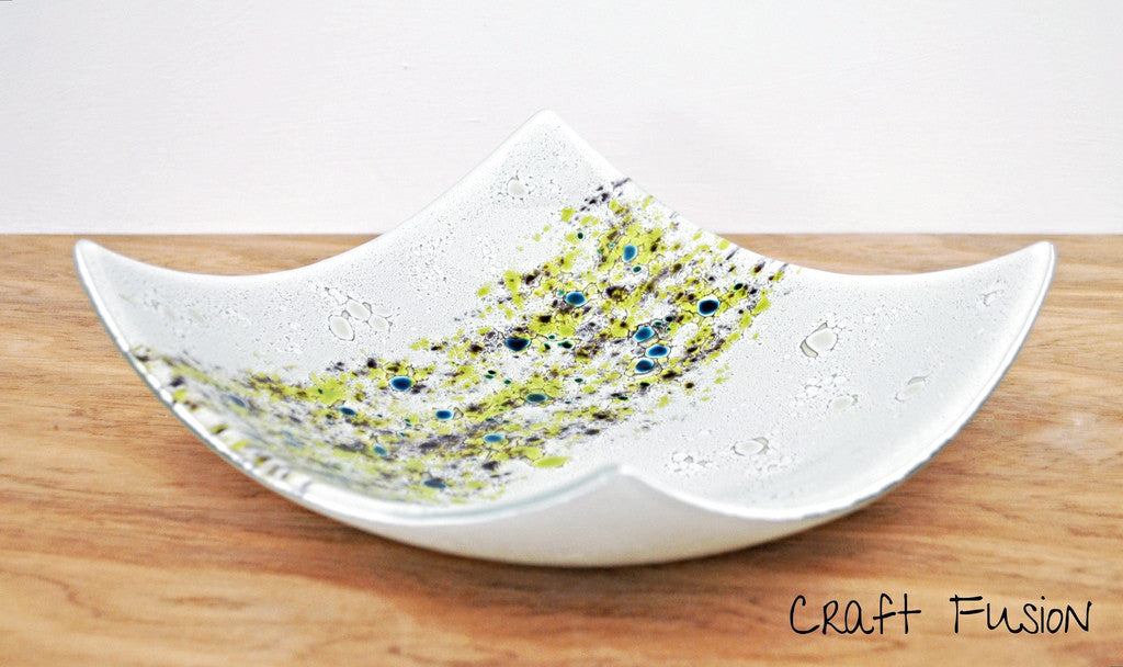 Glass bowl, fused glass art by Craft Fusion