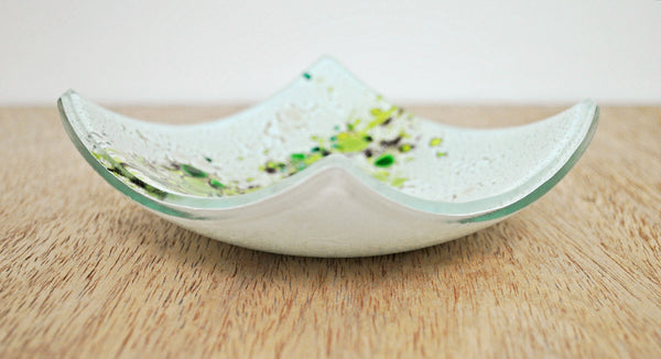 Java - Small kiln formed glass bowl
