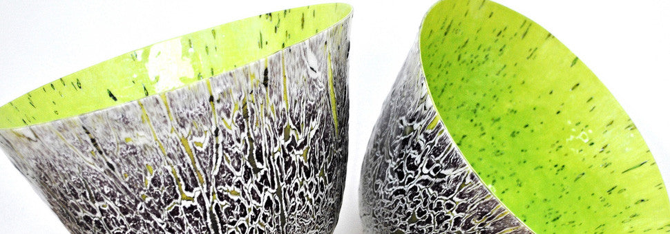 Contemporary Handmade Fused Art Glass Vessels By Gregg Anston-Race