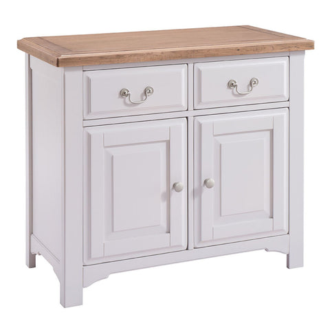 Georgia Grey Painted And Oak Sideboard   Small