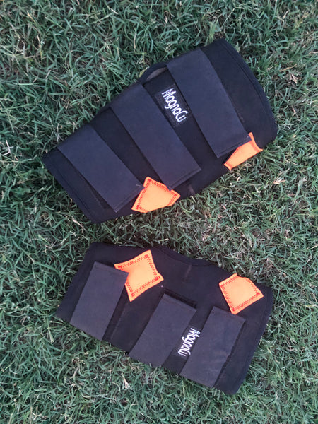 Used Demo Pair MagnaCu Hock Boots w/Orange