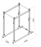 FIT AND RACK - dimensions cage à squats