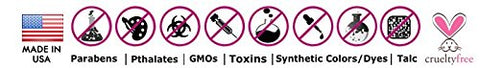 made in the USA, no carcinogens, no perfumes, no GMOs...only skin healthy ingredients in our products!