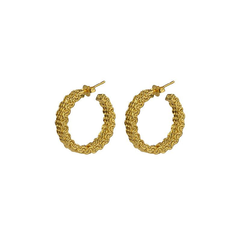 Malla Stud Hoops - Gold