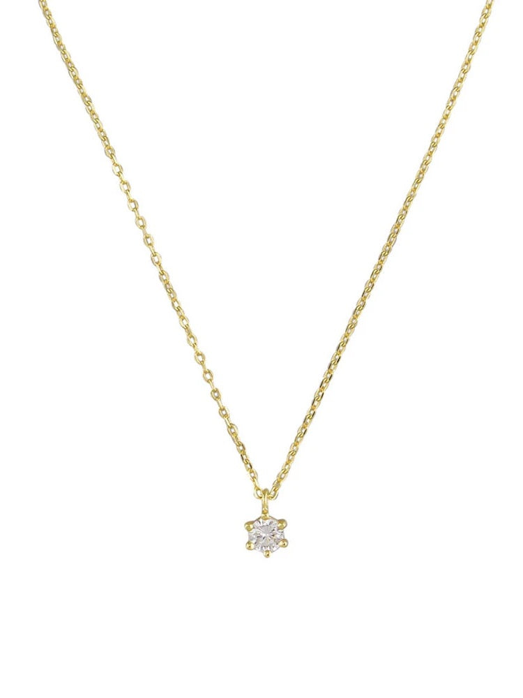 Ariel Necklace - Crystal Gold