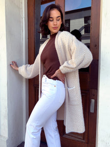 West Side Cardi - Cream/Caramel