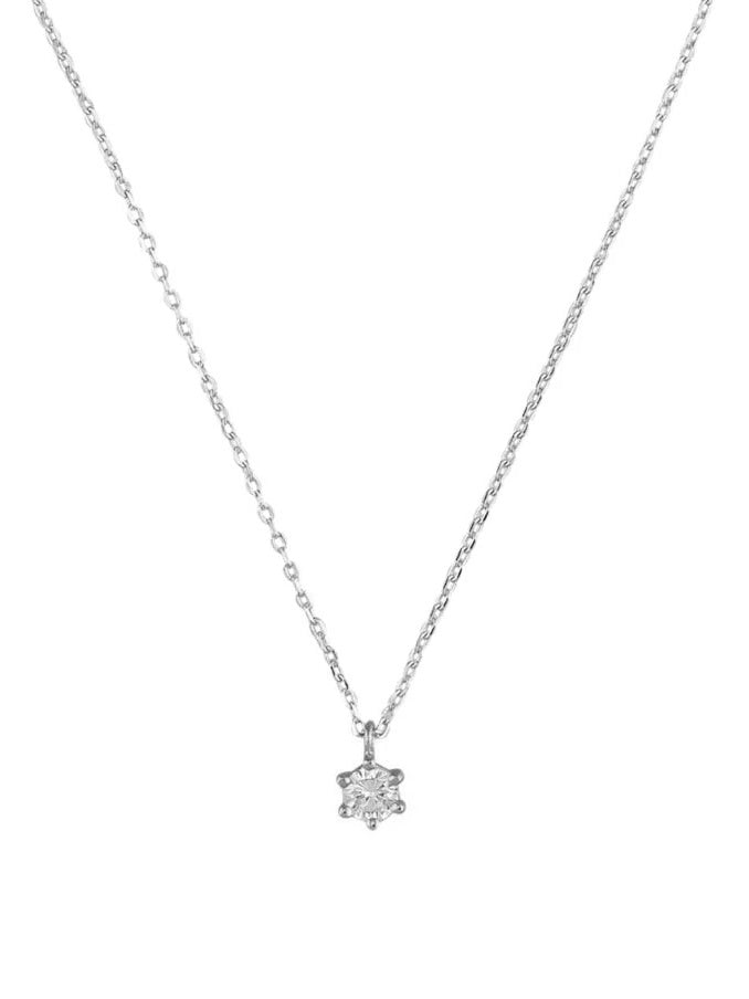 Ariel Necklace - Crystal Silver