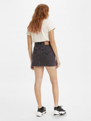Ribcage Skirt- Washed Noir Black