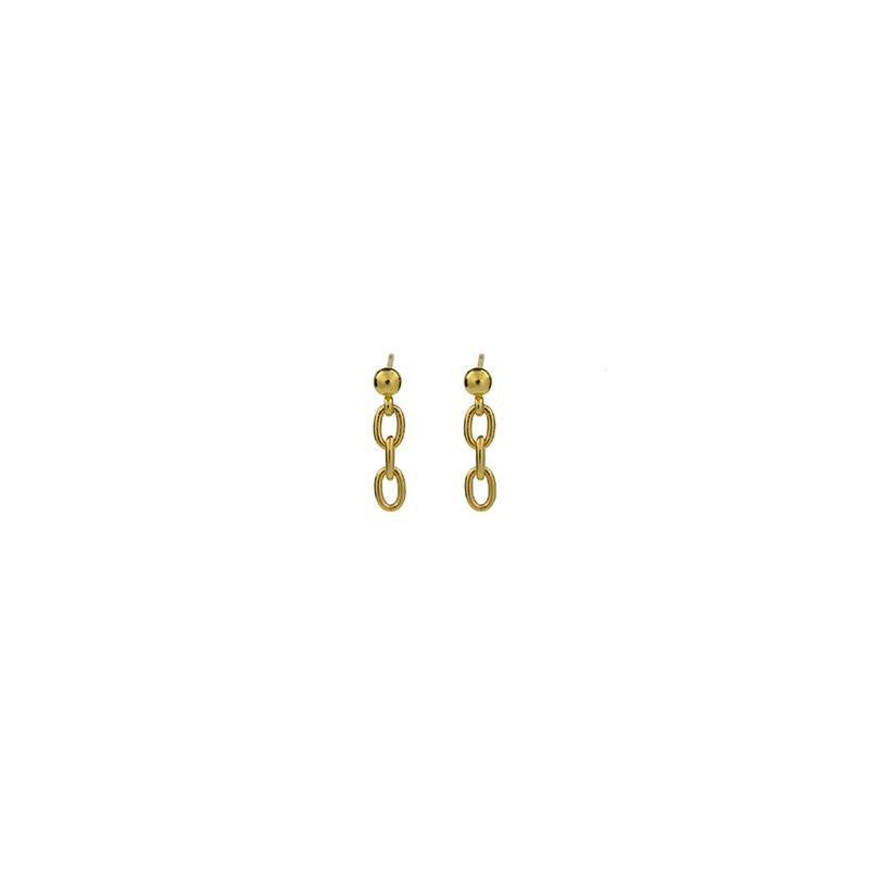 925 Mini Chain Studs - Gold