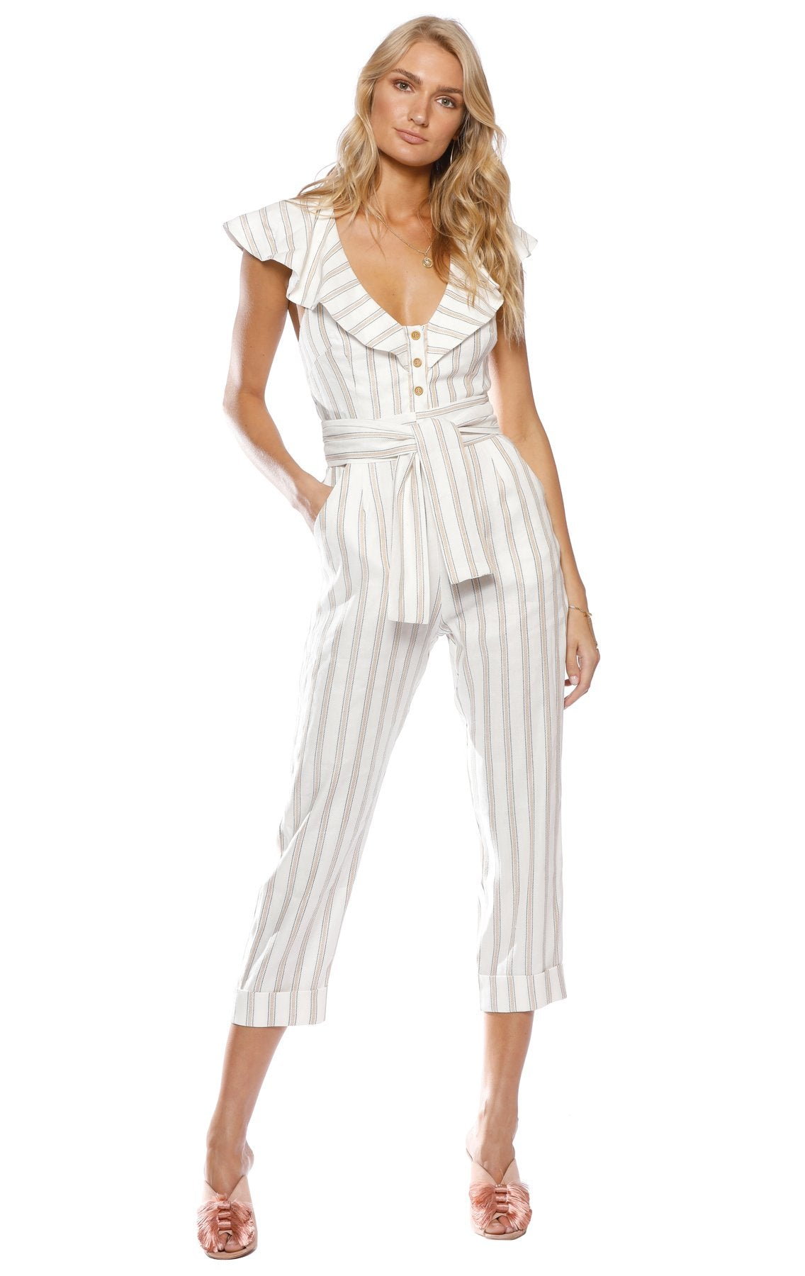 Ribbon Stripe Pantsuit