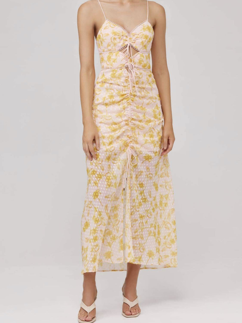 Angelina Dress - Pineapple Palm