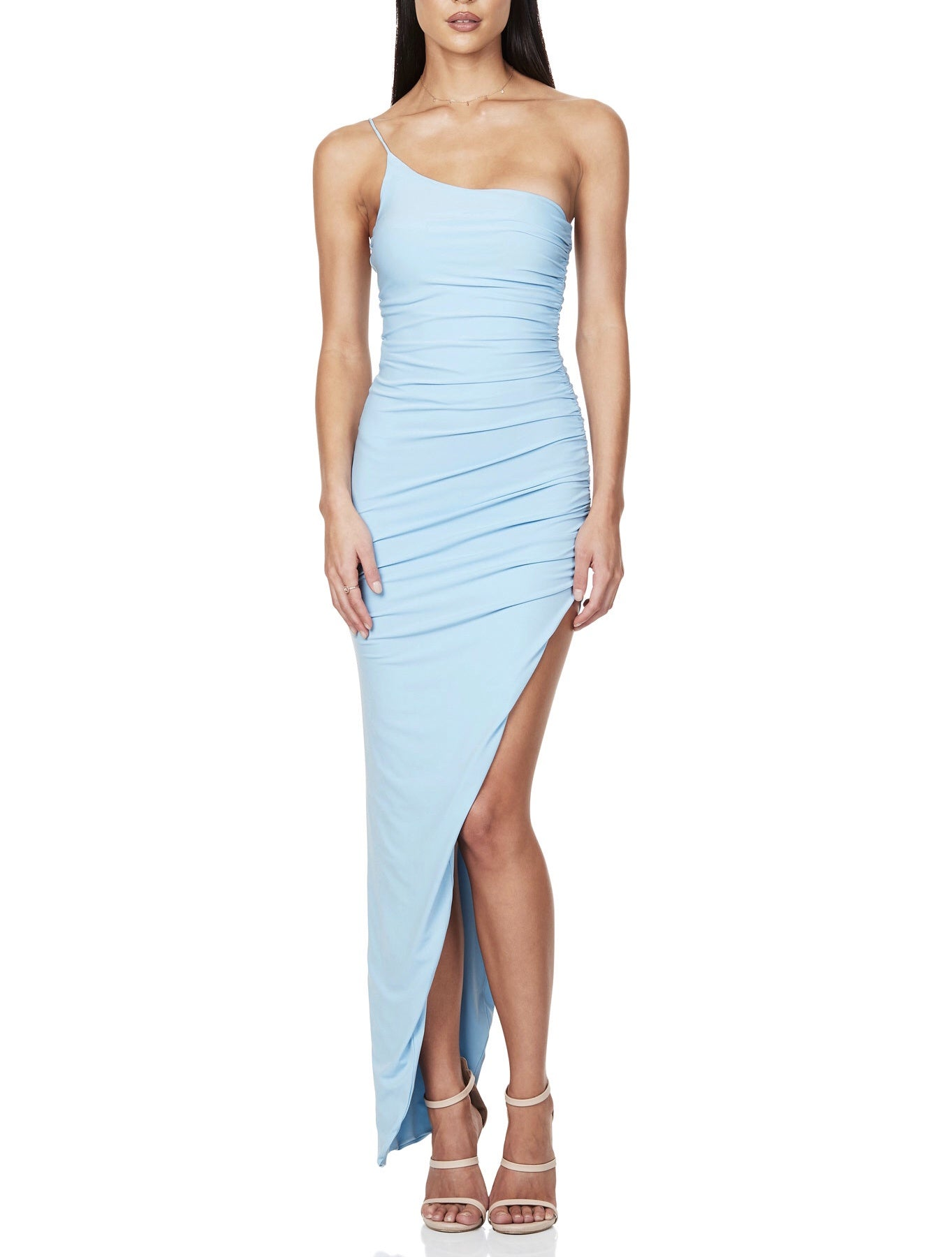 Aria One Shoulder Gown - Blue