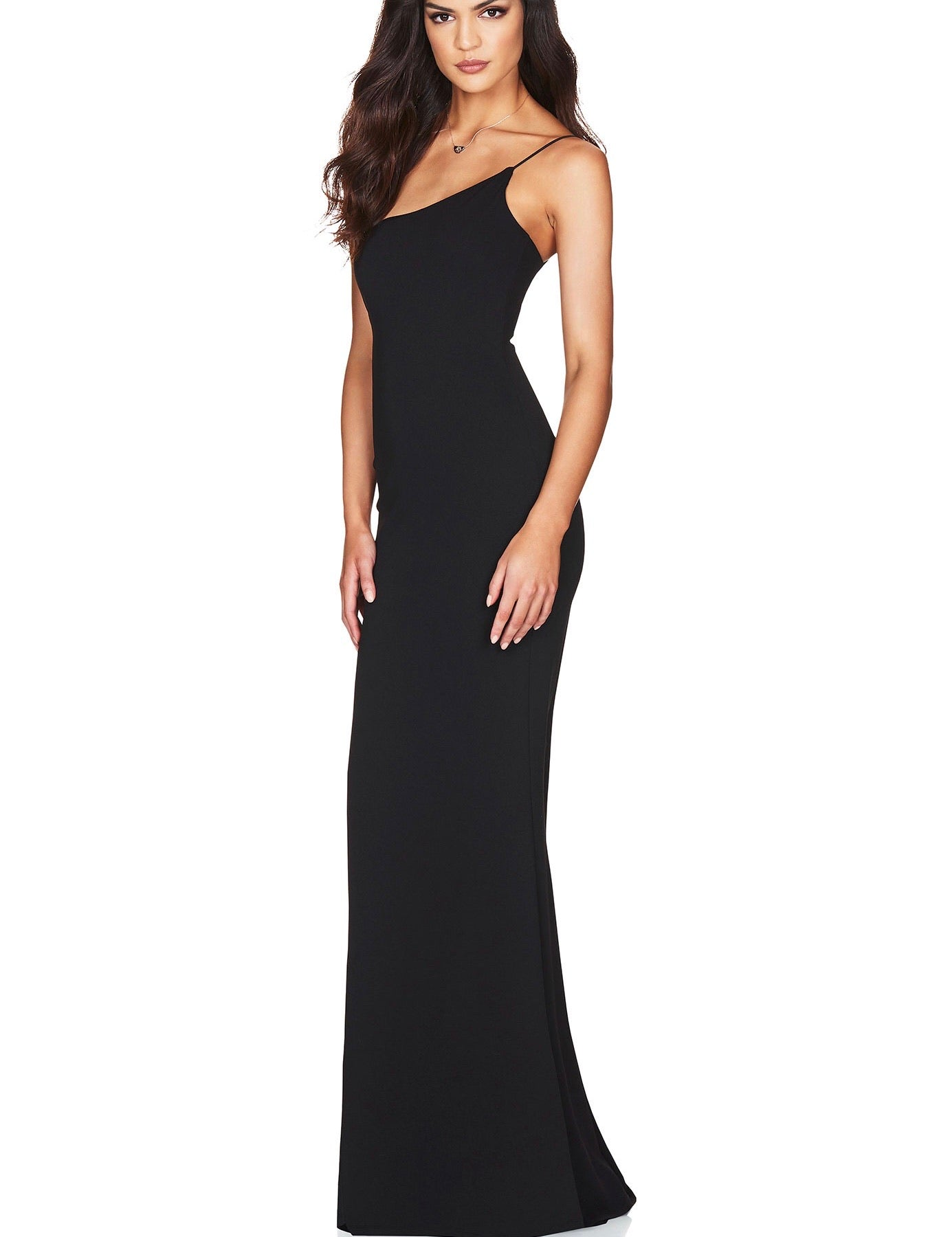 Jasmine One Shoulder Gown - Black