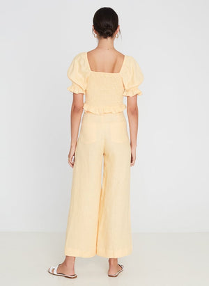 Rose Wide Leg Pants - Apricot
