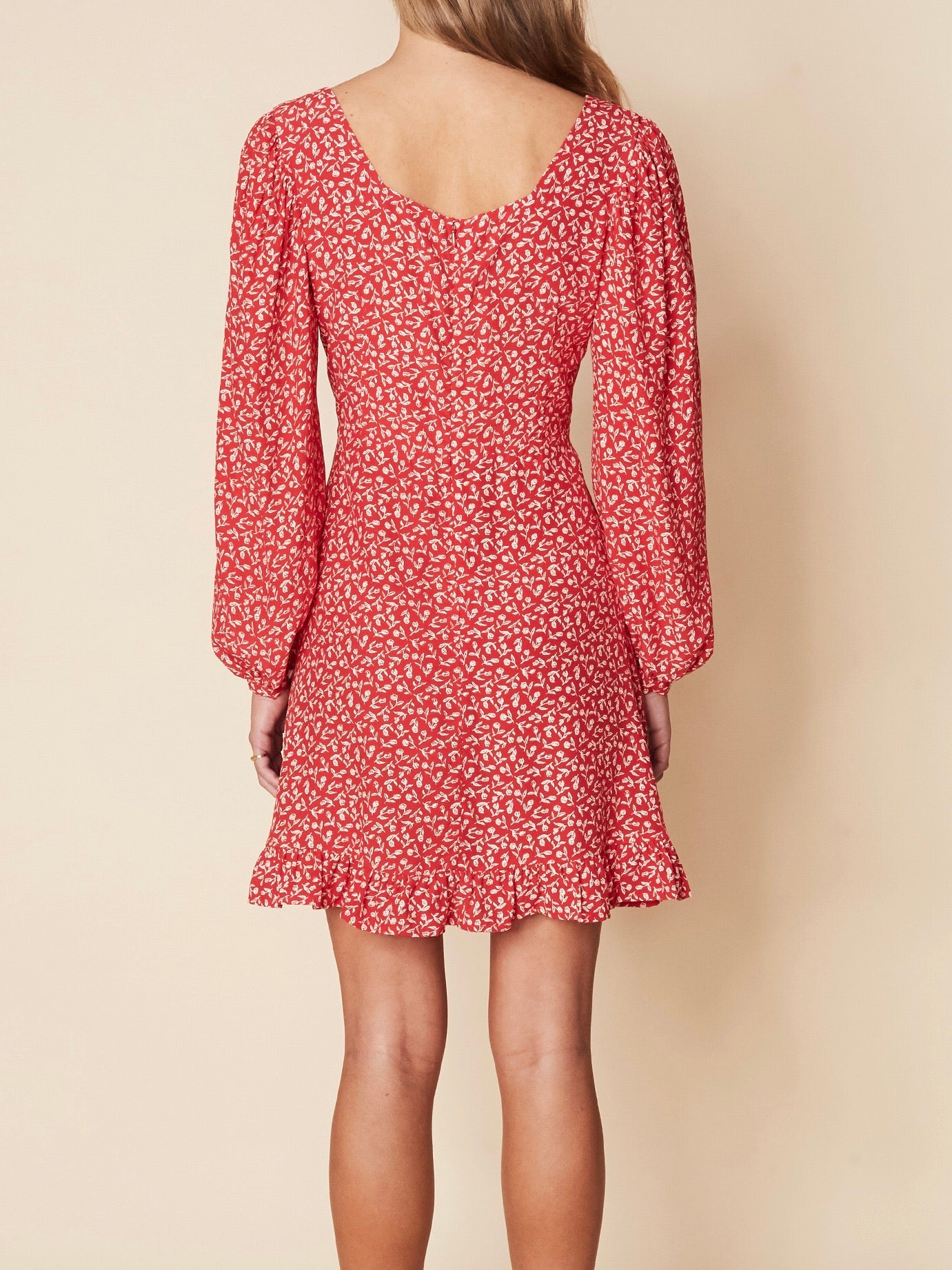 Calla Mini Dress - Maddy Floral Vintage Red