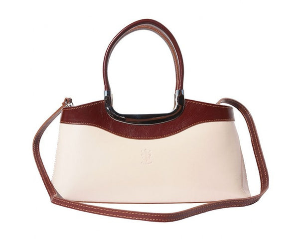 "HANDBAG ""ELEGANZA"" WITH DOUBLE HANDLE MADE OF GENUINE CALF LEATHER-FLM-JetSet"