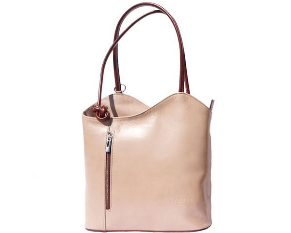 GENUINE LEATHER CONVERTIBLE BACKPACK AND SHOULDER BAG-FLM-JetSet