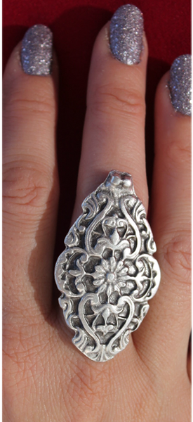 Massive Engraved Mexican Silver Ring-JetSet-JetSet
