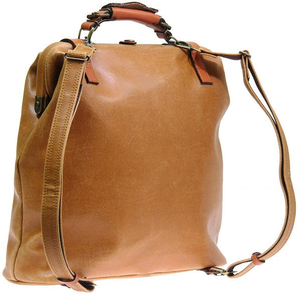 Japanese Antique Leather Look Retro Bag/Backpack-SDI-JetSet