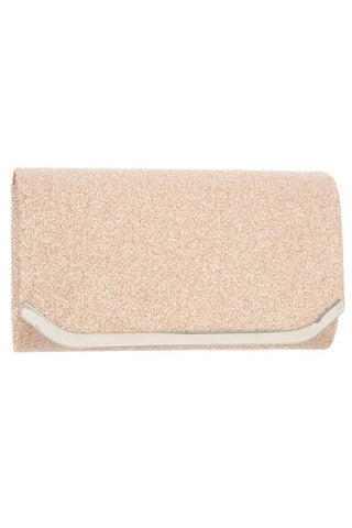 Glittery Detailed Metal Accent Evening Clutch Bag-FG-JetSet